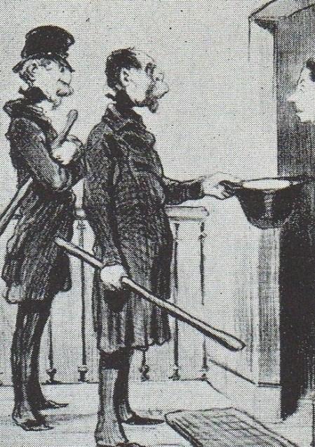 DOMINGO 23 - DAUMIER - SUSCRIPCIÓN PARA EL CULTO 26 DE FEBRERO DE 1851 - img183